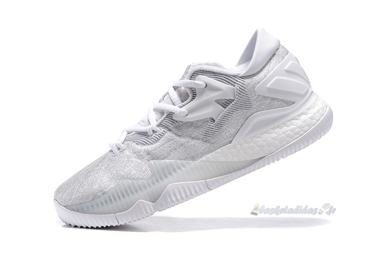 Chaussure de Basket Adidas Crazylight Boost Blanc Gris