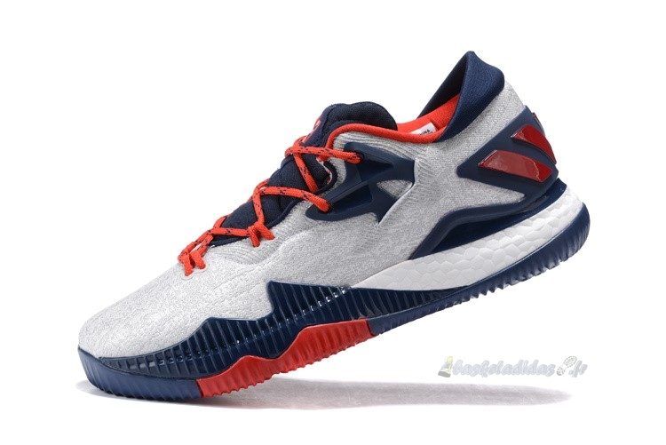 Chaussure de Basket Adidas Crazylight Boost Blanc Marine Rouge