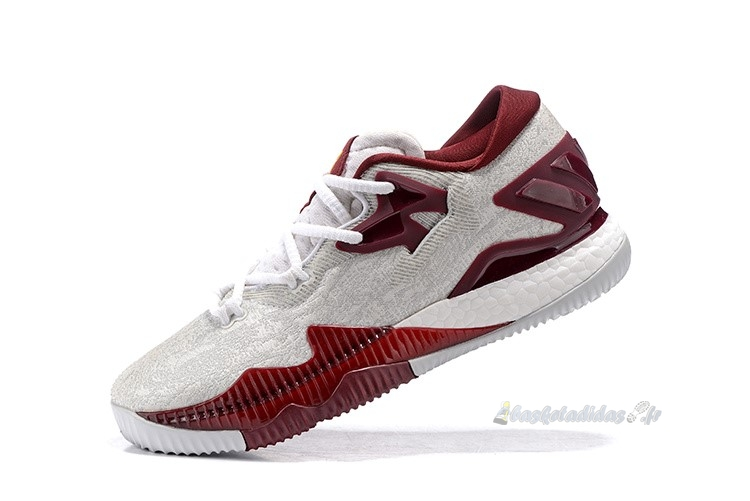 Chaussure de Basket Adidas Crazylight Boost Blanc Rouge
