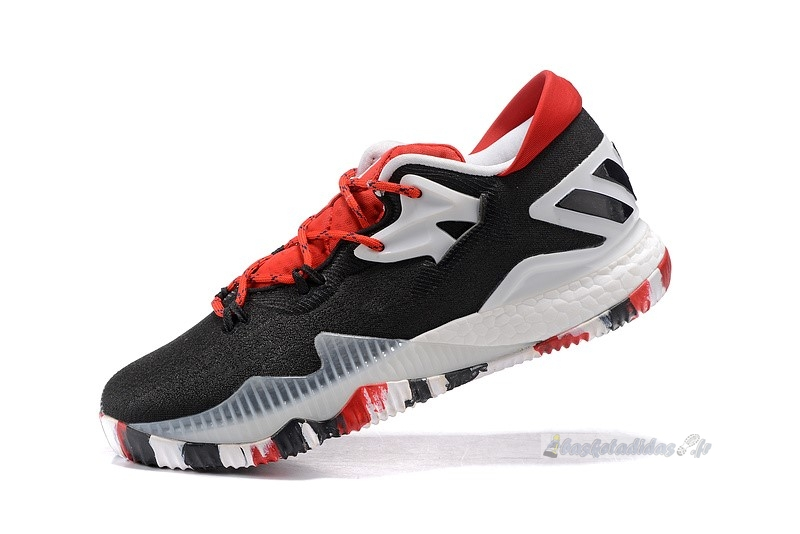 Chaussure de Basket Adidas Crazylight Boost Noir Blanc Rouge