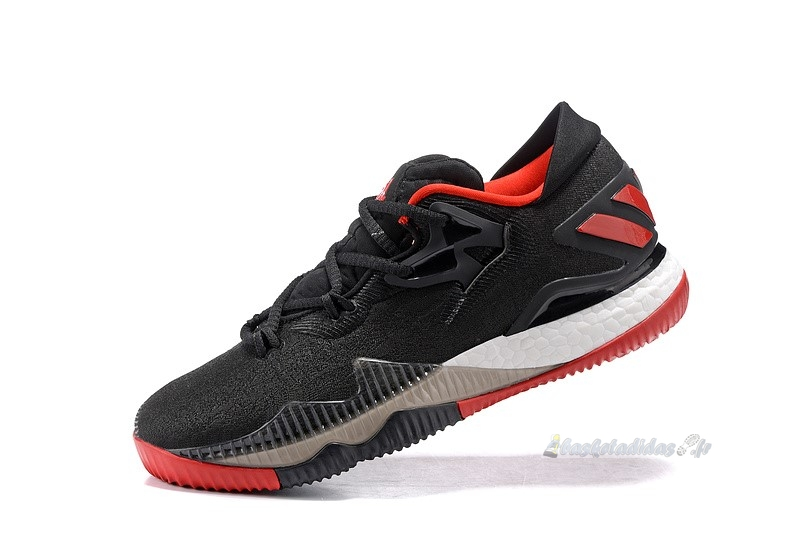 Chaussure de Basket Adidas Crazylight Boost Noir Rouge Blanc