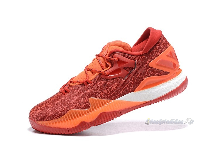 Chaussure de Basket Adidas Crazylight Boost Rouge Orange Blanc