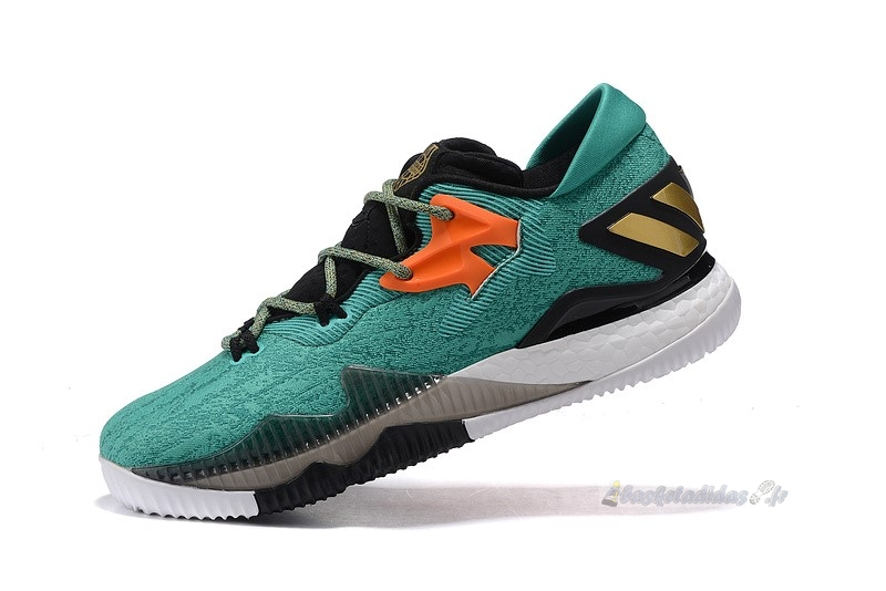 Chaussure de Basket Adidas Crazylight Boost Vert Noir Orange