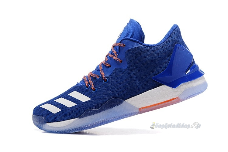Chaussure de Basket Adidas Derrick Rose Vii 7 Low Bleu Rouge (by4499)