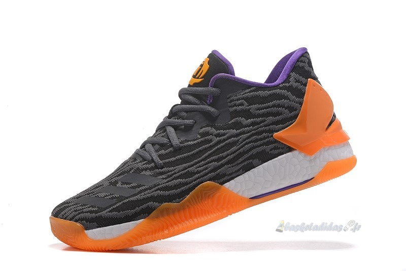 Chaussure de Basket Adidas Derrick Rose Vii 7 Low Gris Orange