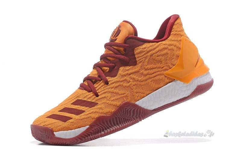 Chaussure de Basket Adidas Derrick Rose Vii 7 Low Orange Rouge