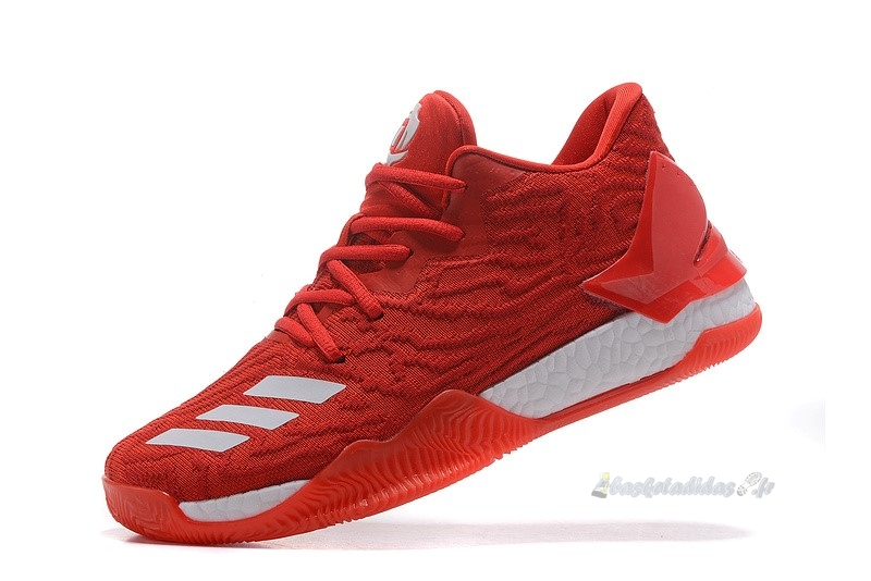 Chaussure de Basket Adidas Derrick Rose Vii 7 Low Rouge Blanc