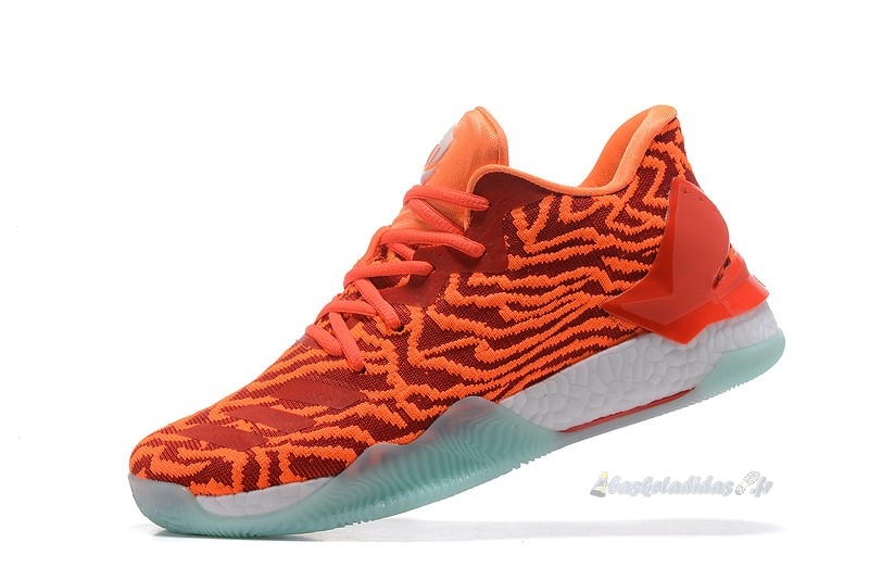 Chaussure de Basket Adidas Derrick Rose Vii 7 Low Rouge Orange Blanc