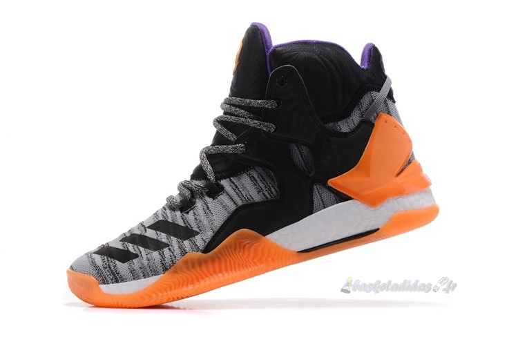 "Chaussure de Basket Adidas Derrick Rose Vii 7 Primeknit ""All Star 2017"" Noir Blanc Orange (bb8193)"