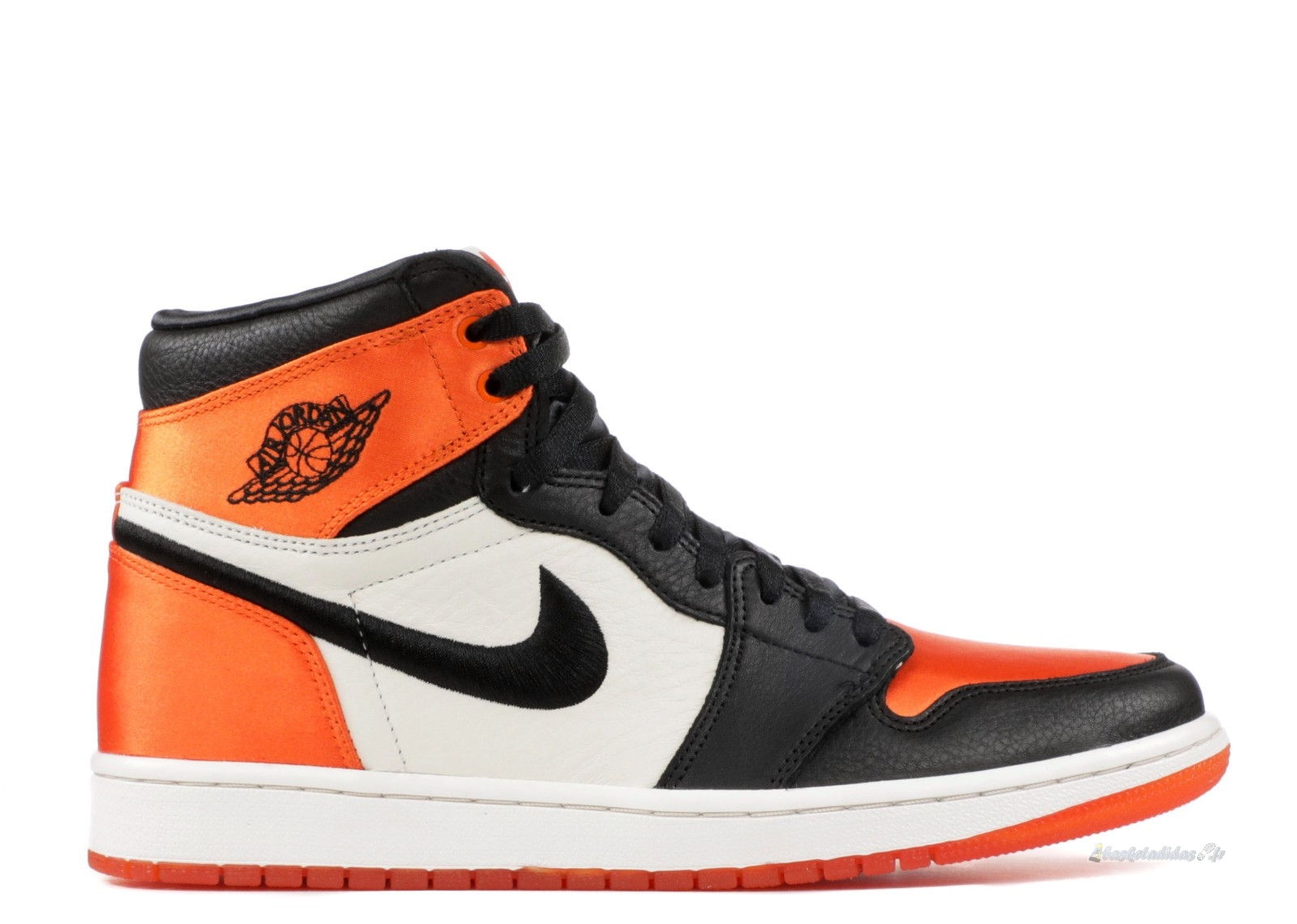 "Chaussure de Basket Air Jordan 1 Femme Re High Og Sl ""Satin Shattered Backboard"" Noir Orange (av3725-010)"