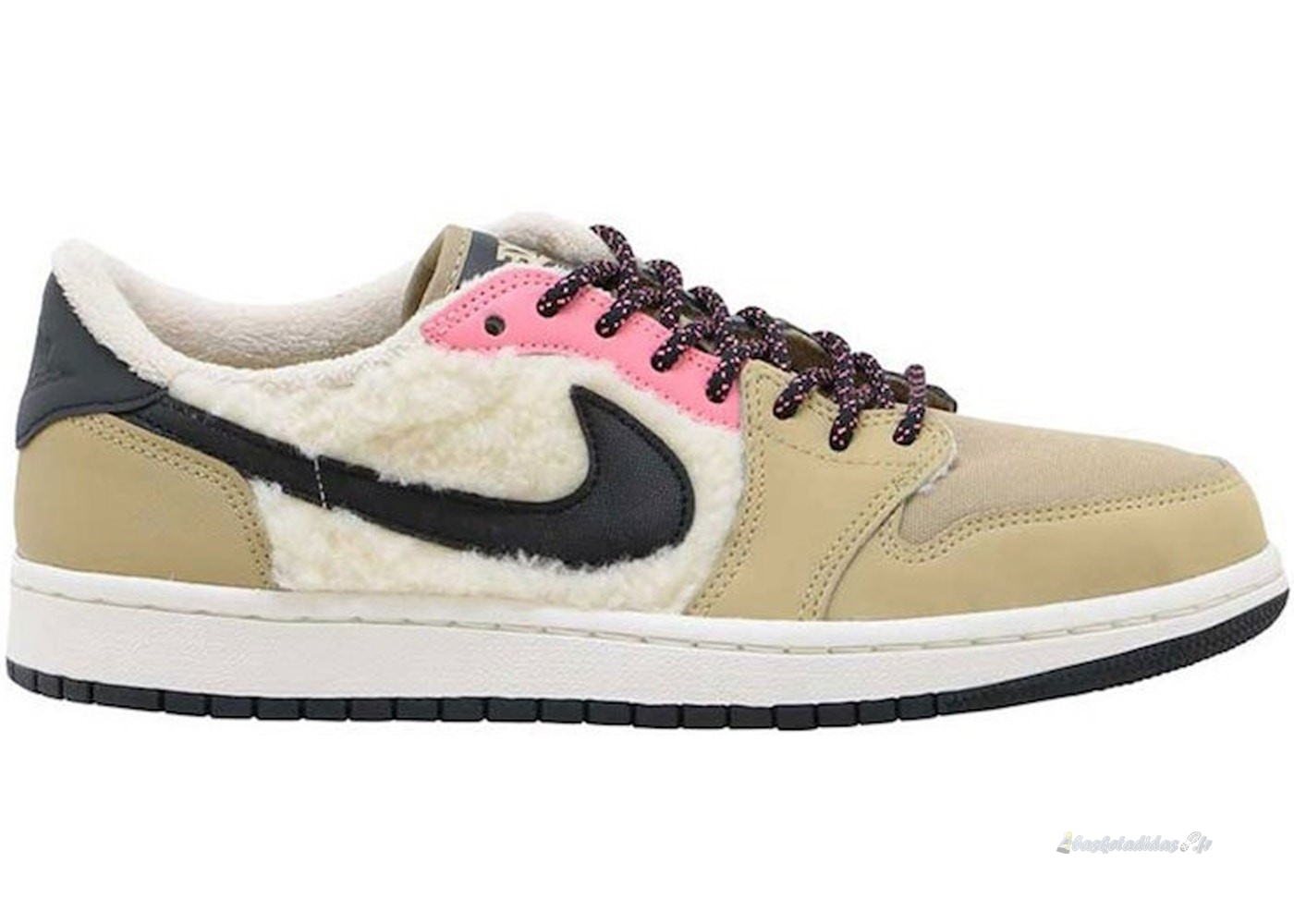 Chaussure de Basket Air Jordan 1 Femme Retro Low Utility Pack Beige (aq0828-200)