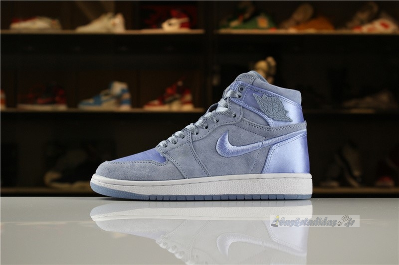 "Chaussure de Basket Air Jordan 1 Femme ""Summer Of High"" Bleu Blanc"