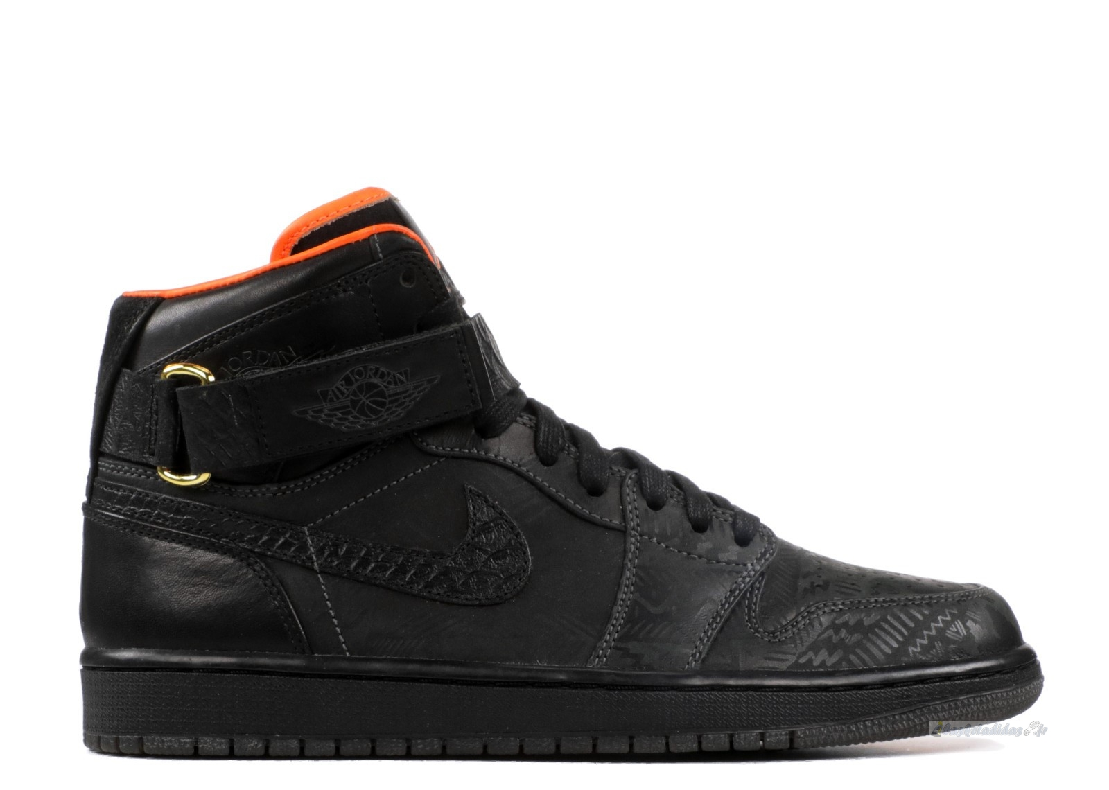 "Chaussure de Basket Air Jordan 1 High Strap Promo ""Just Don Bhm"" Noir (386009-xc)"