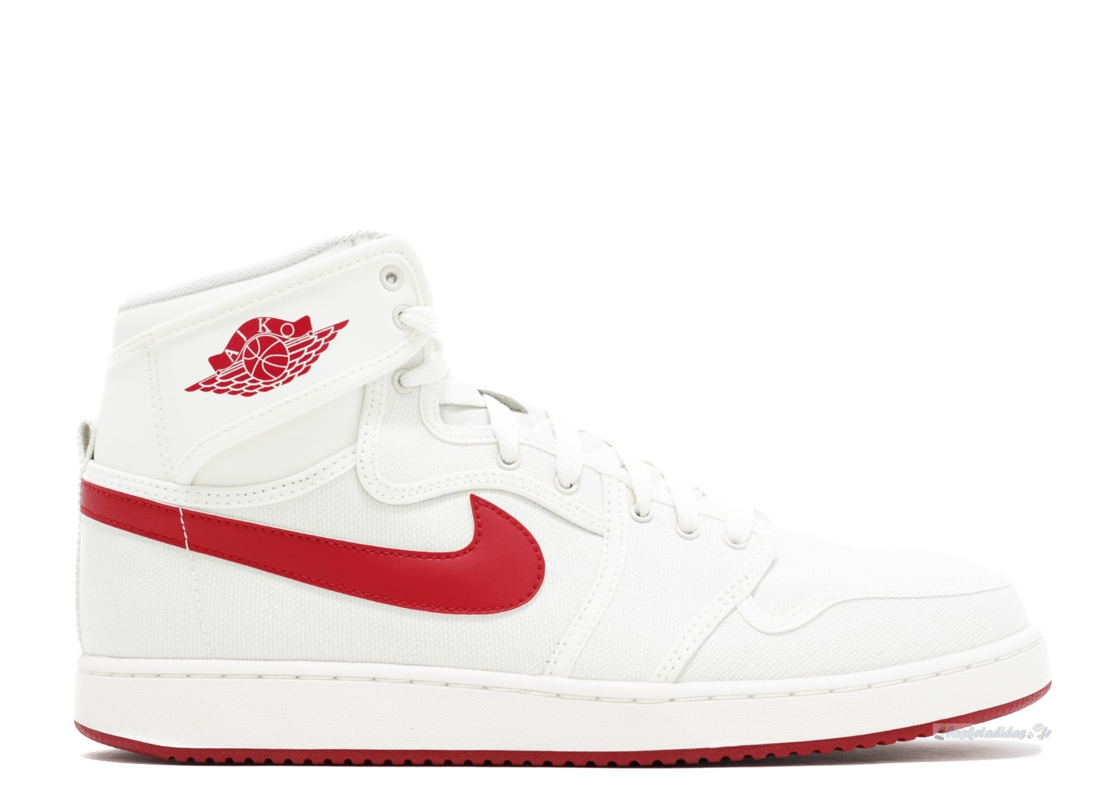 "Chaussure de Basket Air Jordan 1 Ko High Og ""Sail Ajko"" Blanc Rouge (638471-102)"
