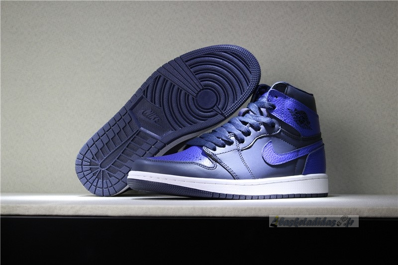 Chaussure de Basket Air Jordan 1 Retro 6 Rings Bleu