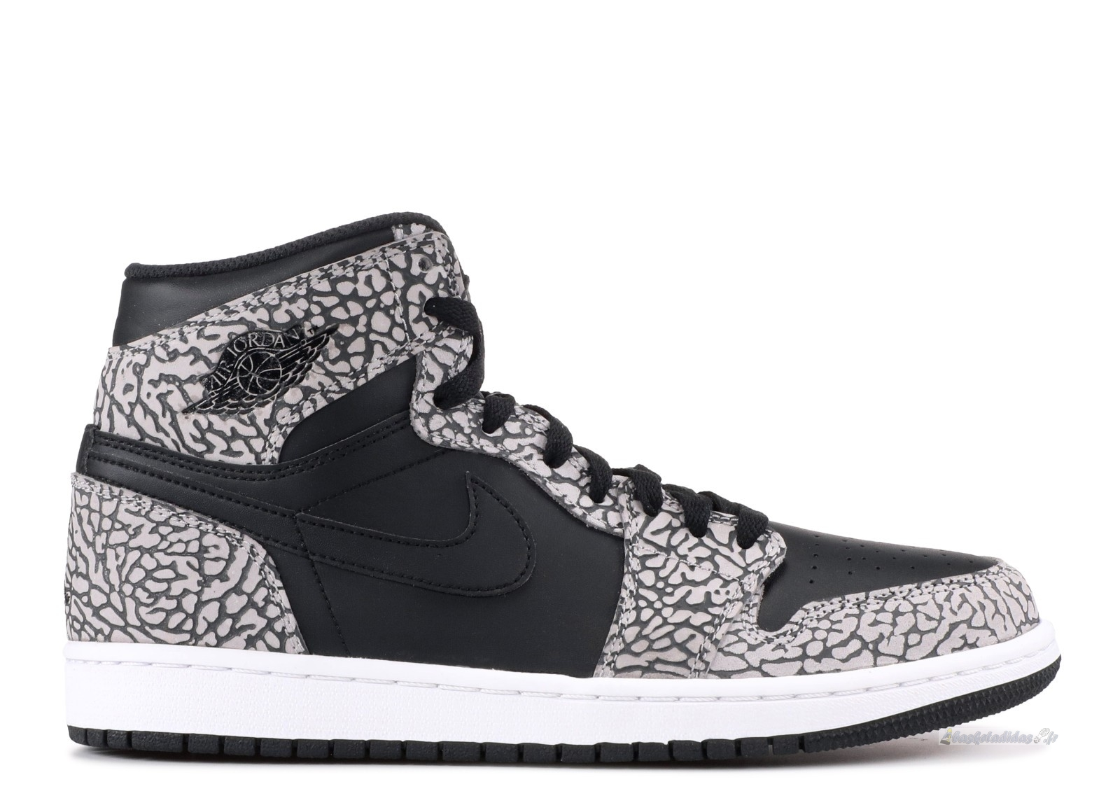 "Chaussure de Basket Air Jordan 1 Retro High ""Noir Elephant Print"" Noir (839115-013)"