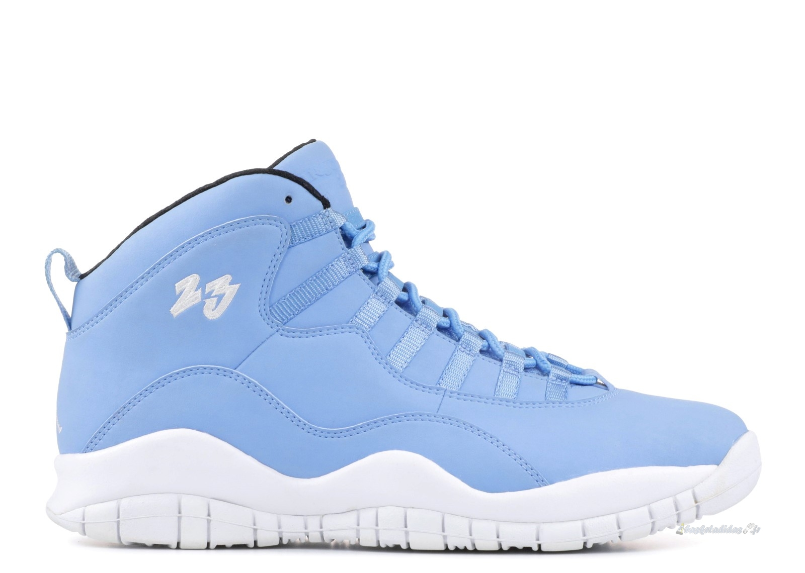 "Chaussure de Basket Air Jordan 10 ""Pantone Collection"" Bleu Blanc (205342-576)"