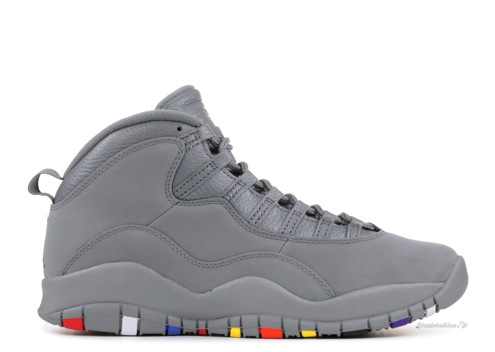 "Chaussure de Basket Air Jordan 10 Retro ""Cool Gris"" Gris (310805-022)"