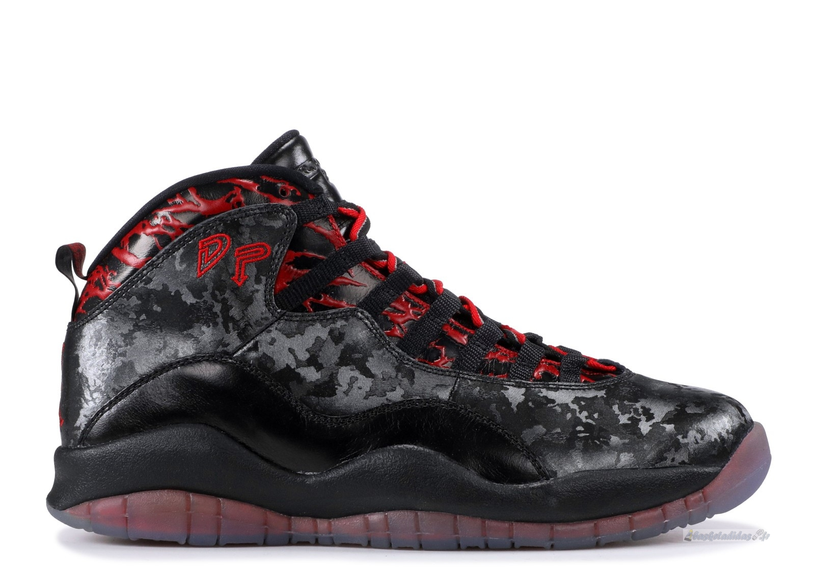 "Chaussure de Basket Air Jordan 10 Retro Db ""Doernbecher"" Noir Rouge (636214-066)"