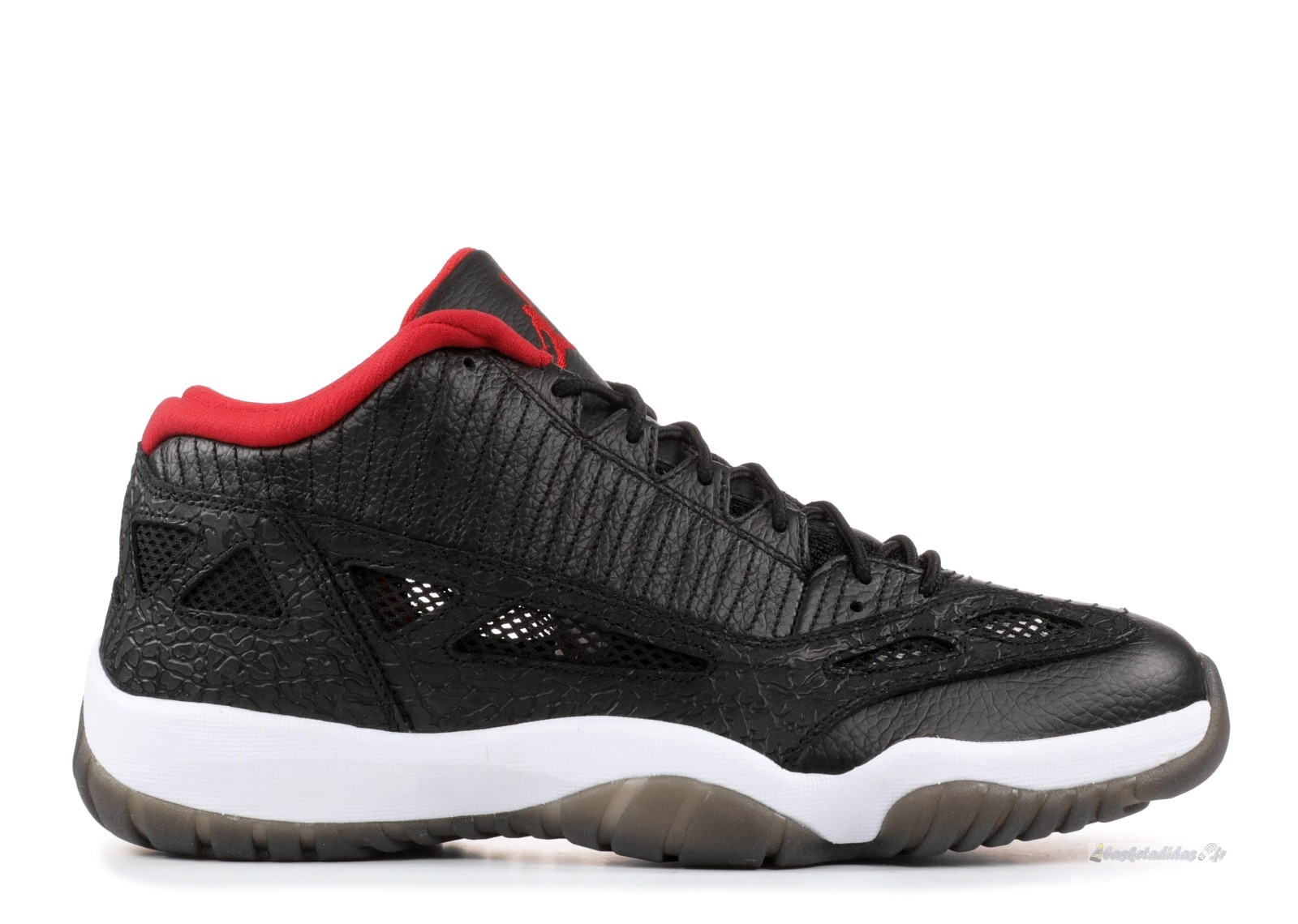 "Chaussure de Basket Air Jordan 11 Retro Low ""2011 Release"" Noir Rouge (306008-001)"