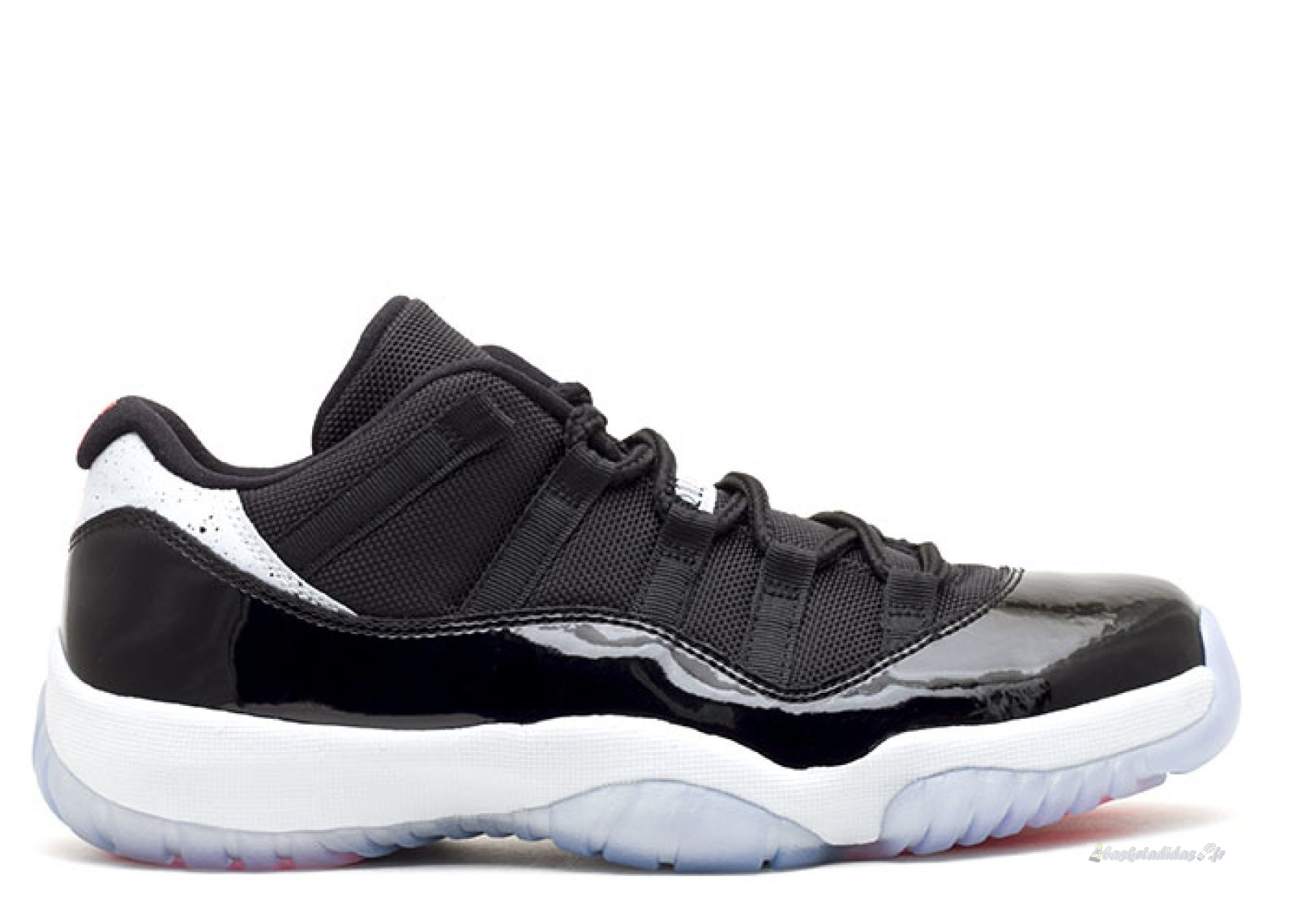 "Chaussure de Basket Air Jordan 11 Retro Low ""Infrared 23"" Noir Blanc (528895-023)"