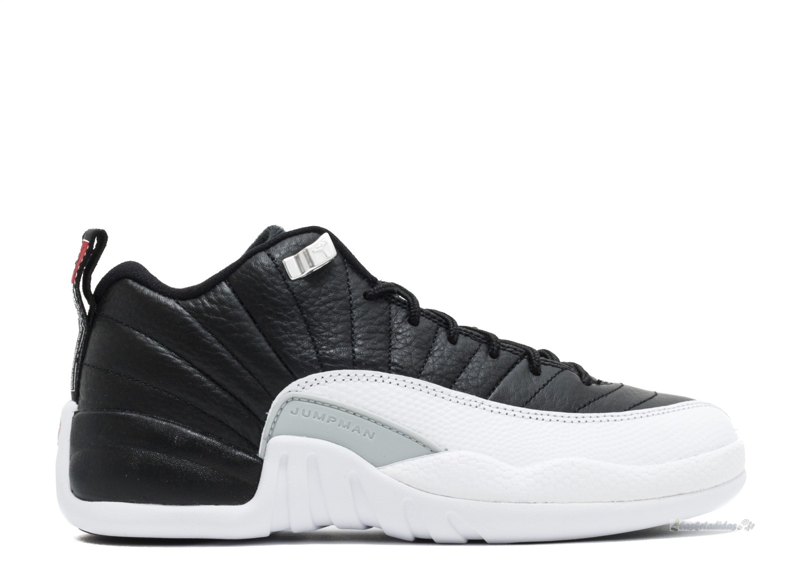 "Chaussure de Basket Air Jordan 12 Reto Low (Gs) ""Playoff"" Noir Blanc (308305-004)"