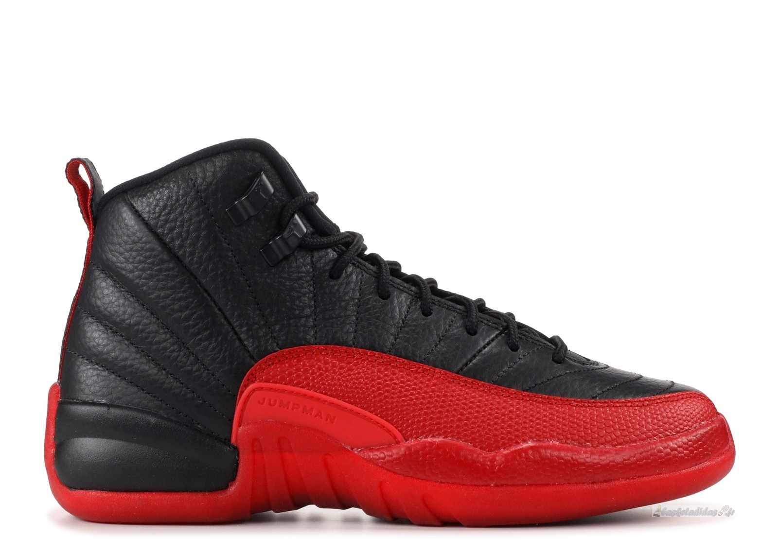 "Chaussure de Basket Air Jordan 12 Retro (Gs) ""Flu Game 2016 Release"" Noir Rouge (153265-002)"