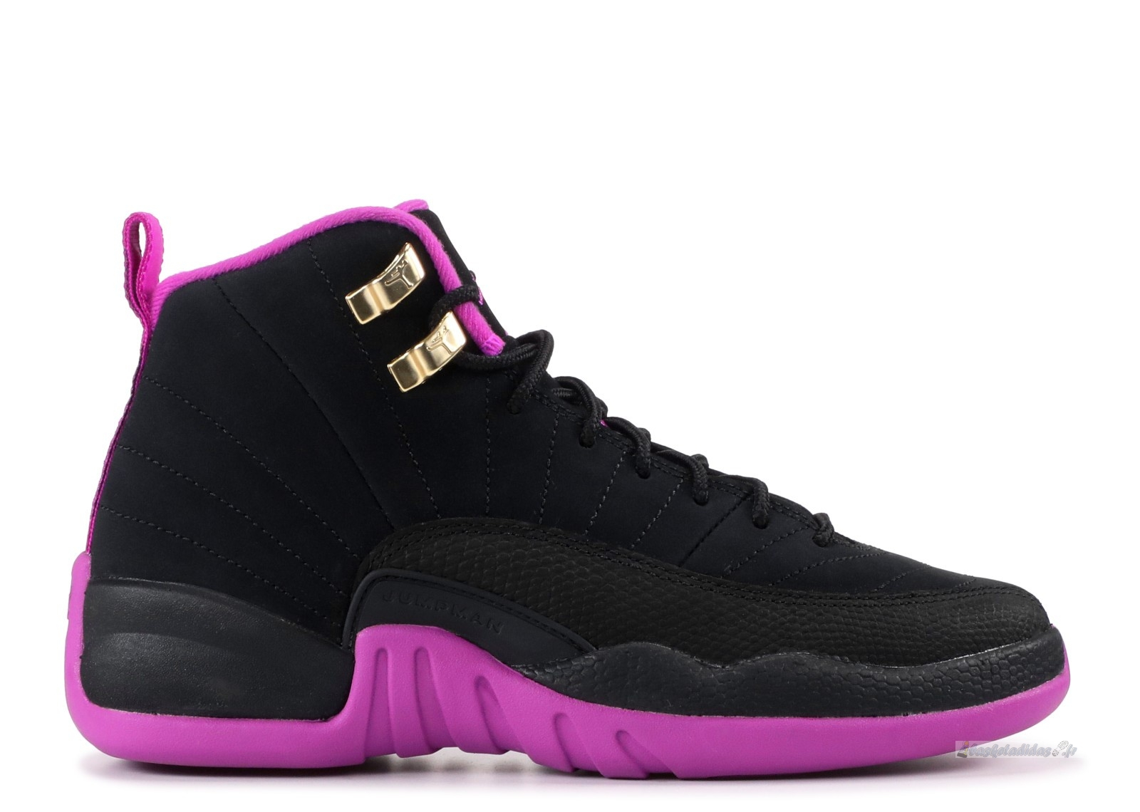 "Chaussure de Basket Air Jordan 12 Retro (Gs) ""Kings"" Noir Rose (510815-018)"