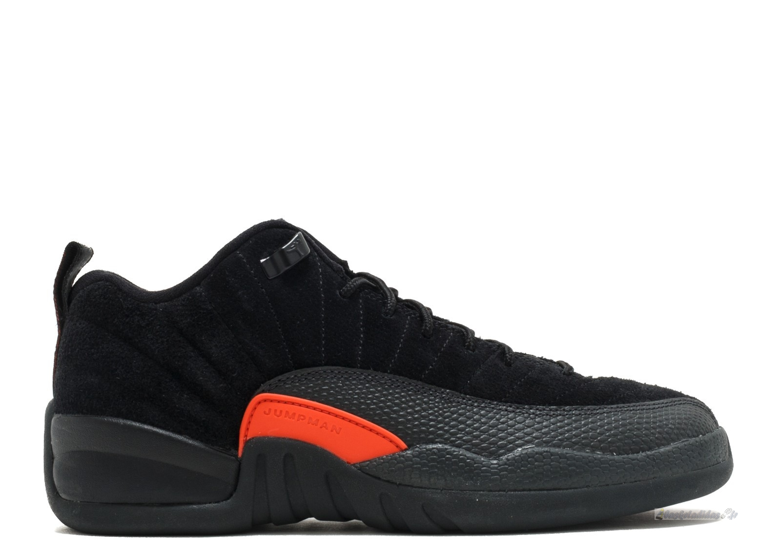 "Chaussure de Basket Air Jordan 12 Retro Low (Gs) ""Max Orange"" Noir Orange (308305-003)"