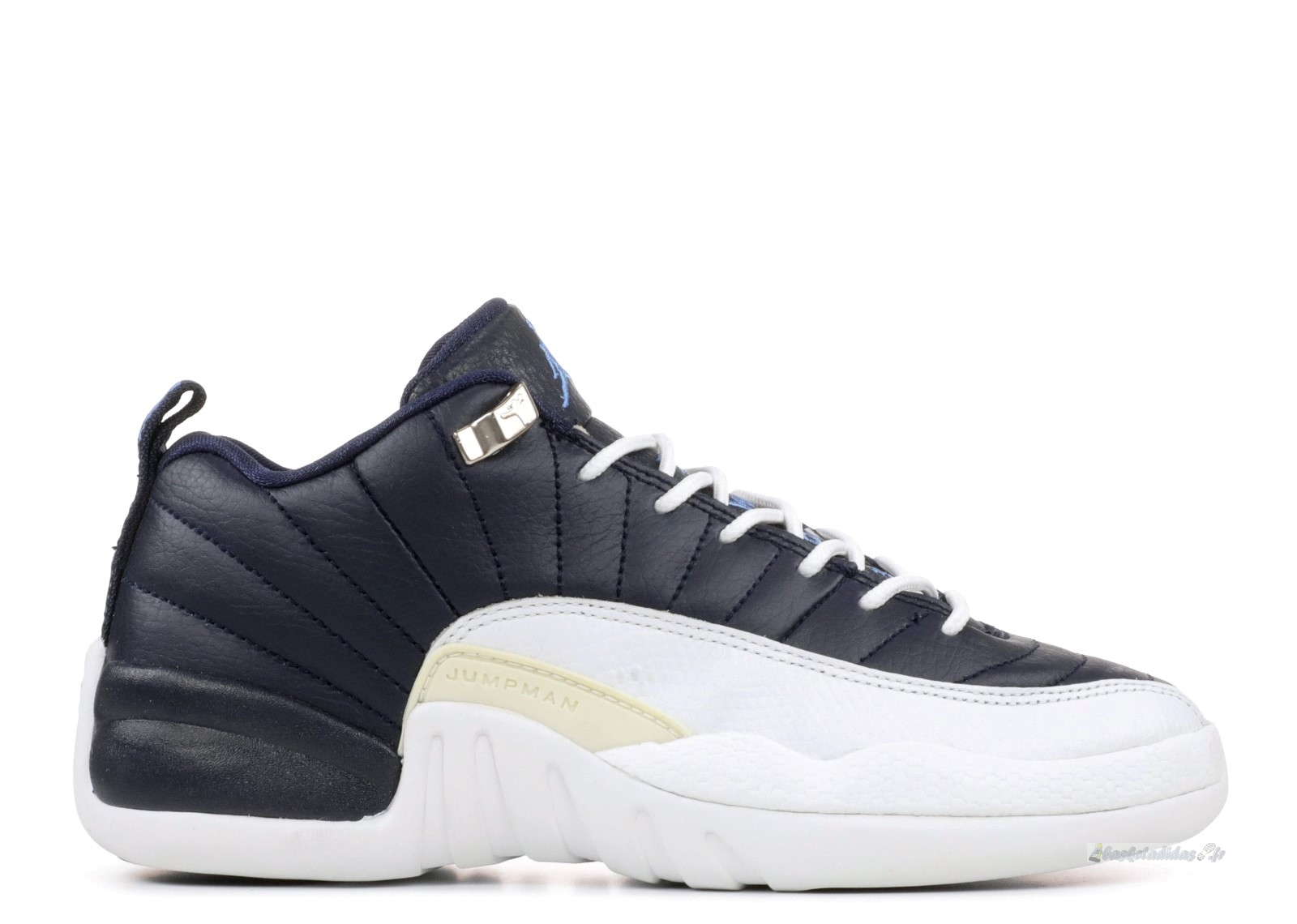 Chaussure de Basket Air Jordan 12 Retro Low (Gs) Noir Blanc (308305-441)