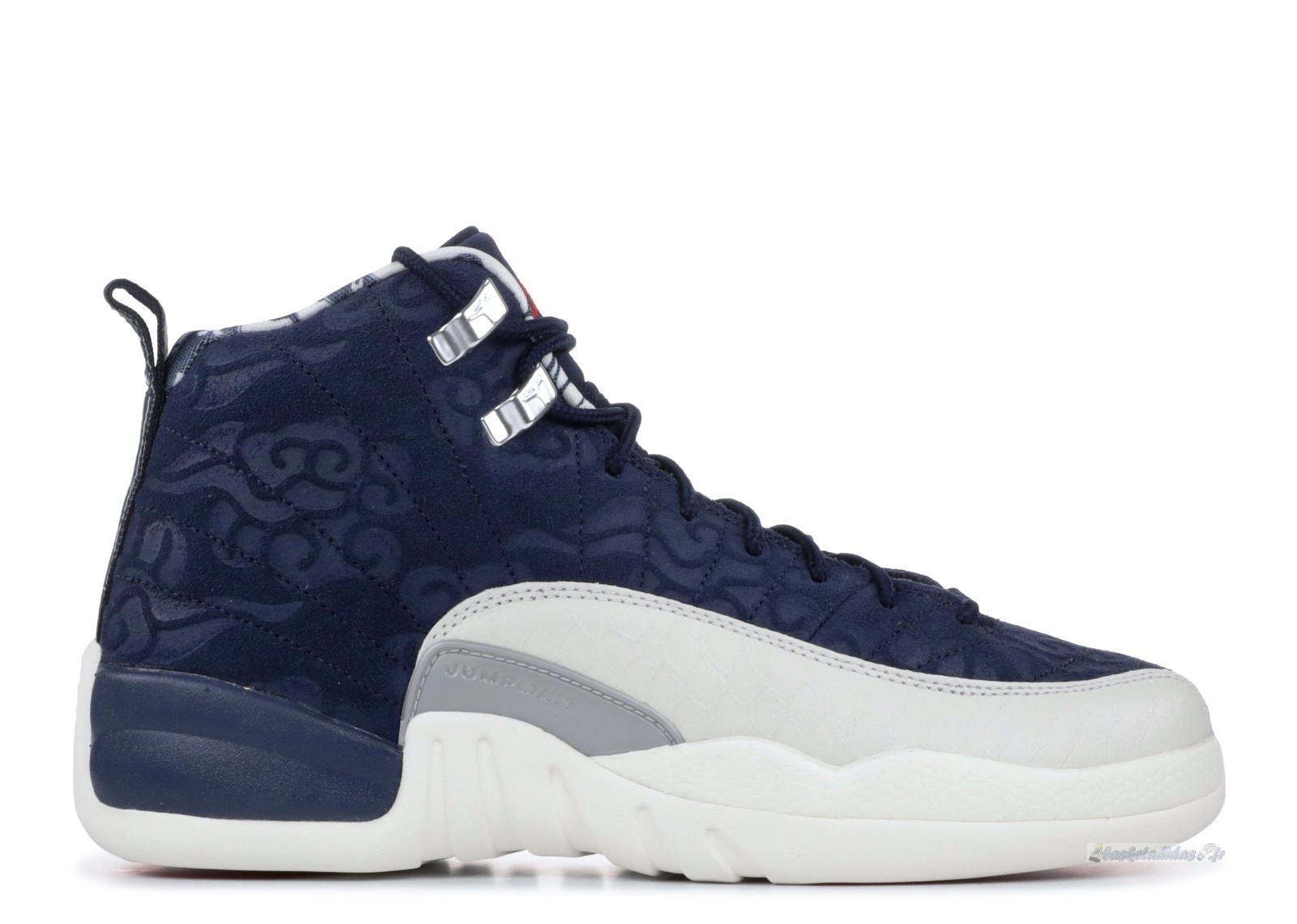 Chaussure de Basket Air Jordan 12 Retro Prm (Gs) Marine (bv8017-445)