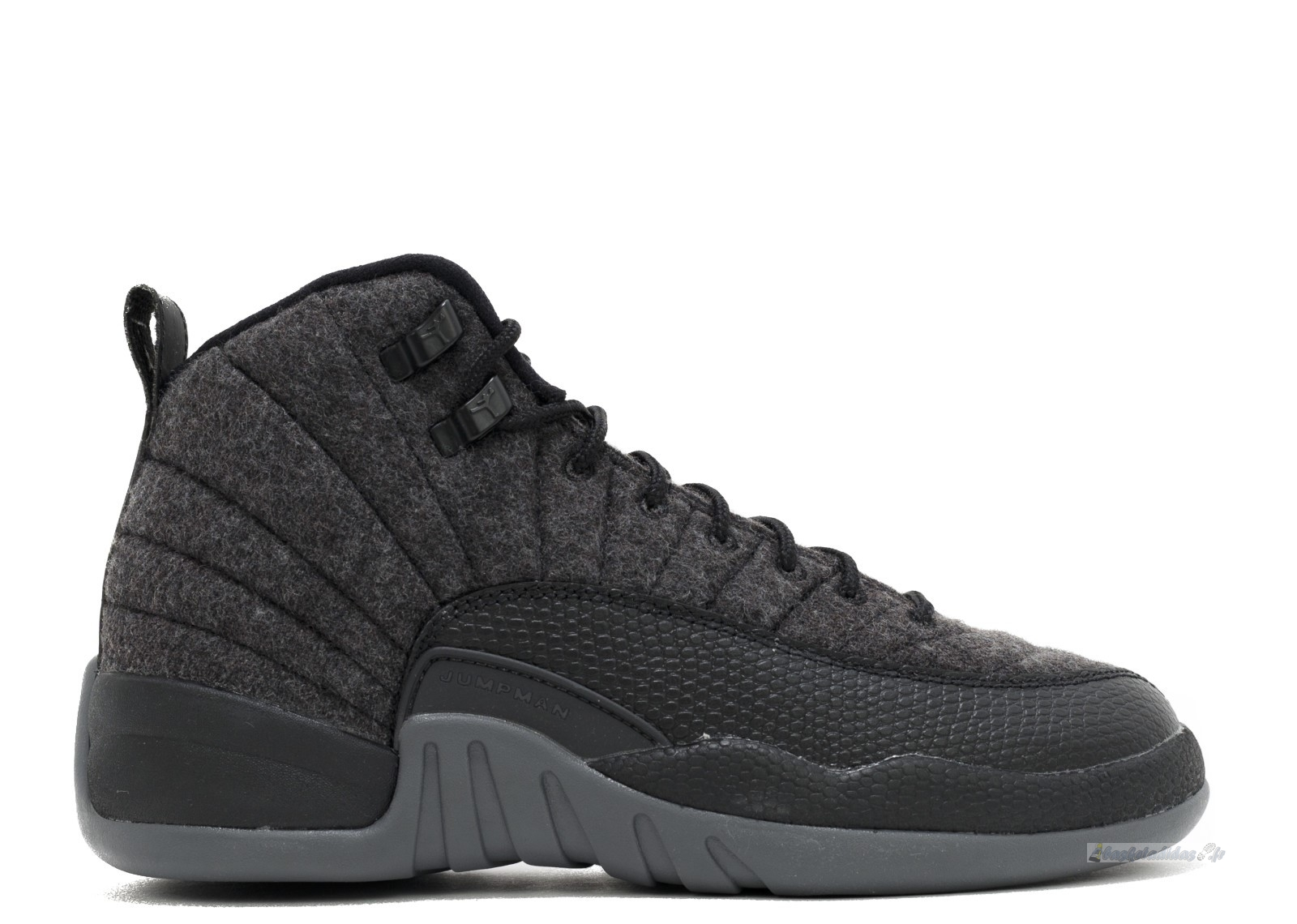 Chaussure de Basket Air Jordan 12 Retro Wool (Gs) Gris (852626-003)