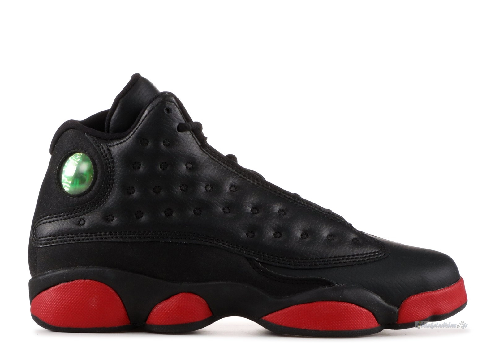 "Chaussure de Basket Air Jordan 13 Retro Bg (Gs) ""Dirty Bred"" Noir Rouge (414574-033)"