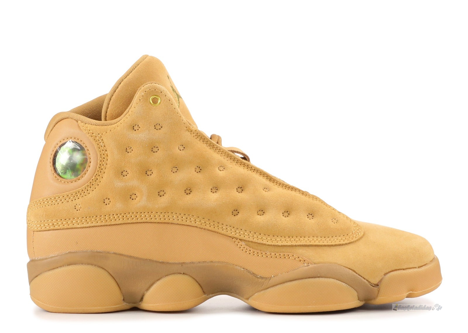 "Chaussure de Basket Air Jordan 13 Retro Bg ""Wheat"" Marron (414574-705)"
