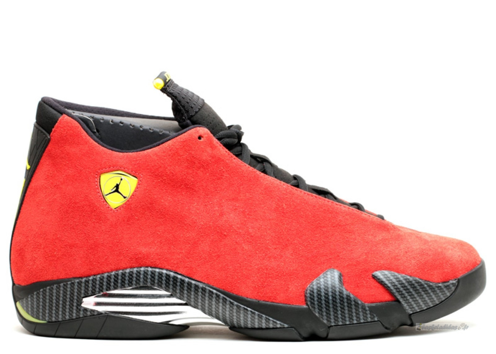 "Chaussure de Basket Air Jordan 14 Retro ""Ferrari"" Rouge (654459-670)"