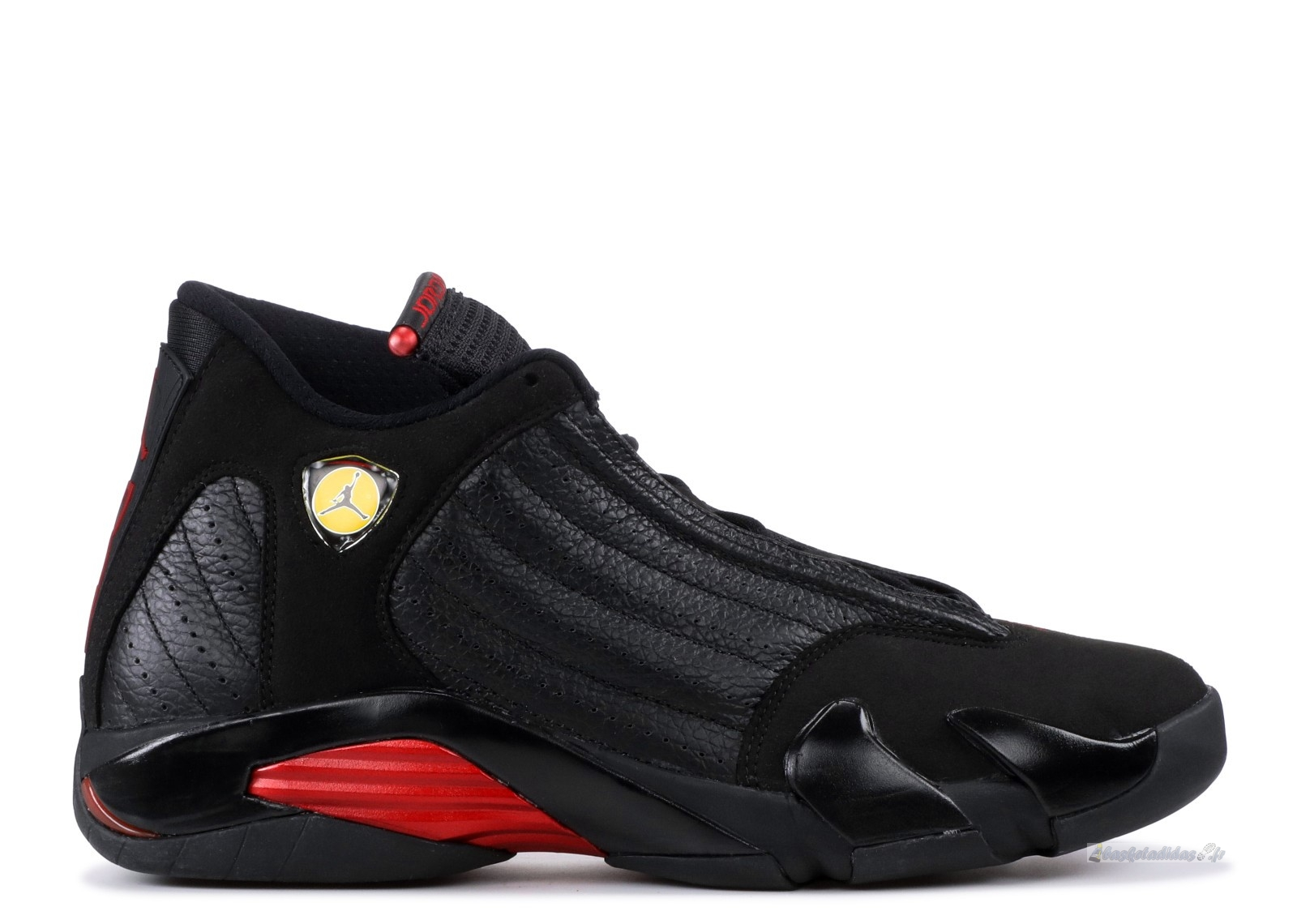 "Chaussure de Basket Air Jordan 14 Retro ""Last Shot 2011 Release"" Noir Rouge (311832-010)"