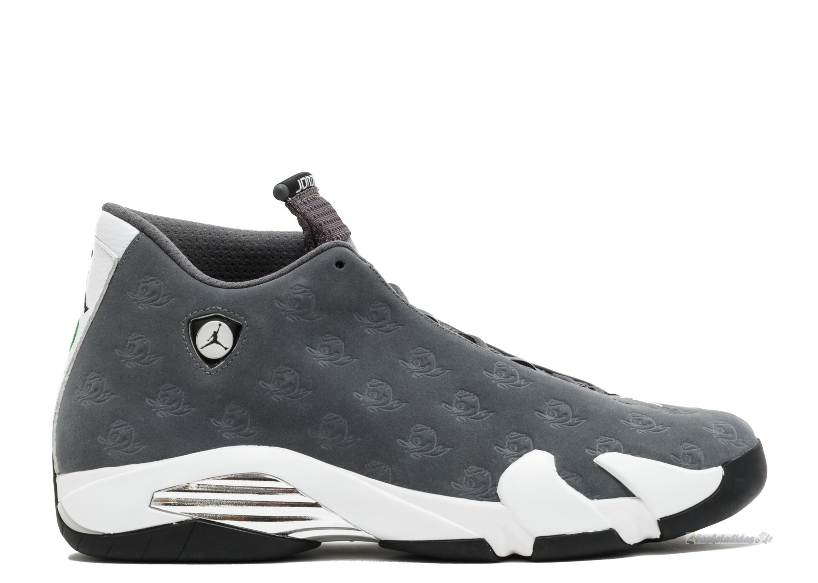 "Chaussure de Basket Air Jordan 14 Retro ""Oregon Ducks"" Gris Blanc (fa14mnjdls779625850)"