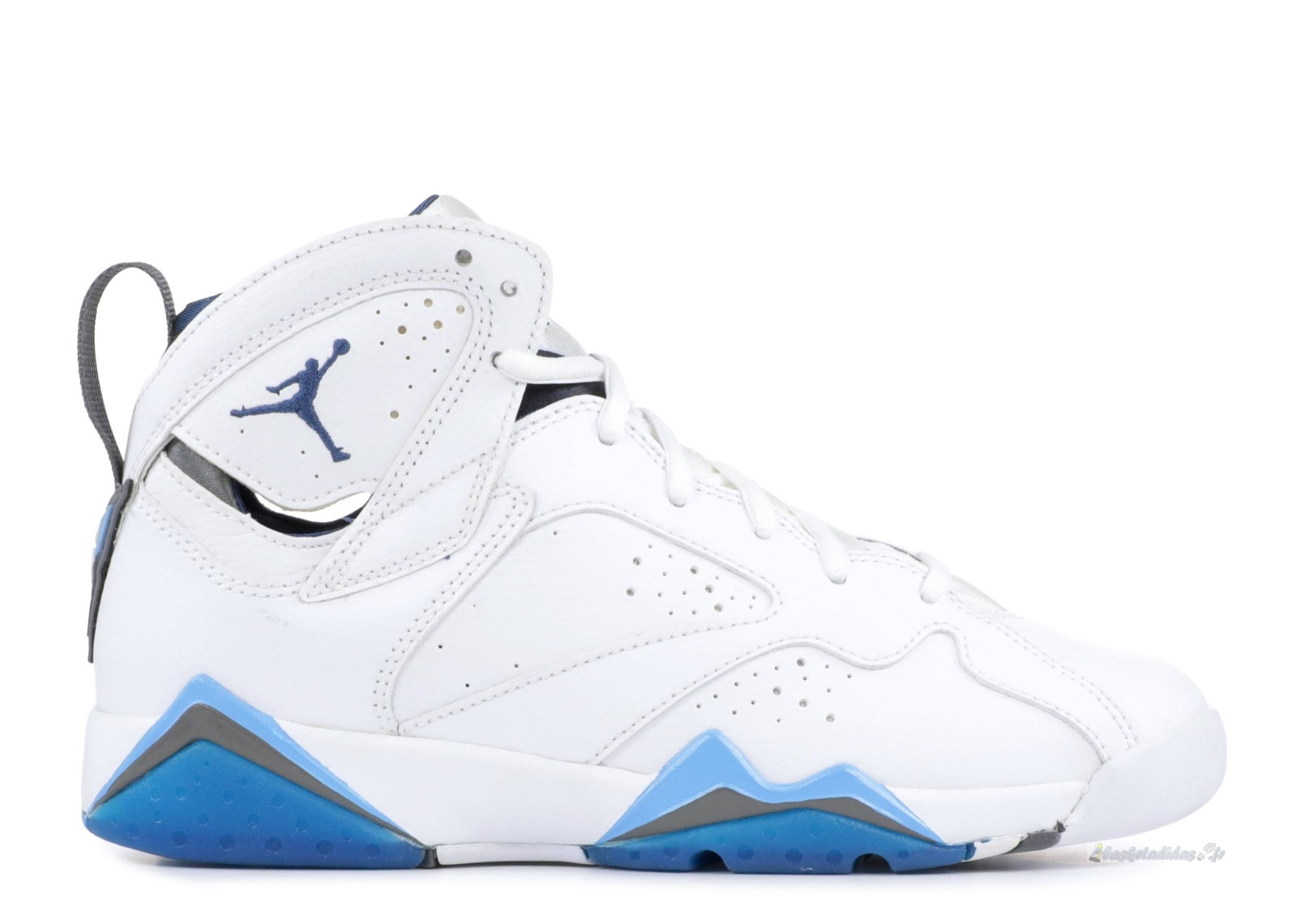 "Chaussure de Basket Air Jordan 7 (Gs) ""French Blue"" Blanc Bleu (304774-107)"