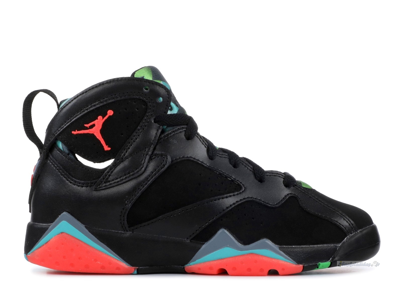 "Chaussure de Basket Air Jordan 7 Retro 30Th (Gs) ""Barcelona Nights"" Noir Rouge Vert (705412-007)"