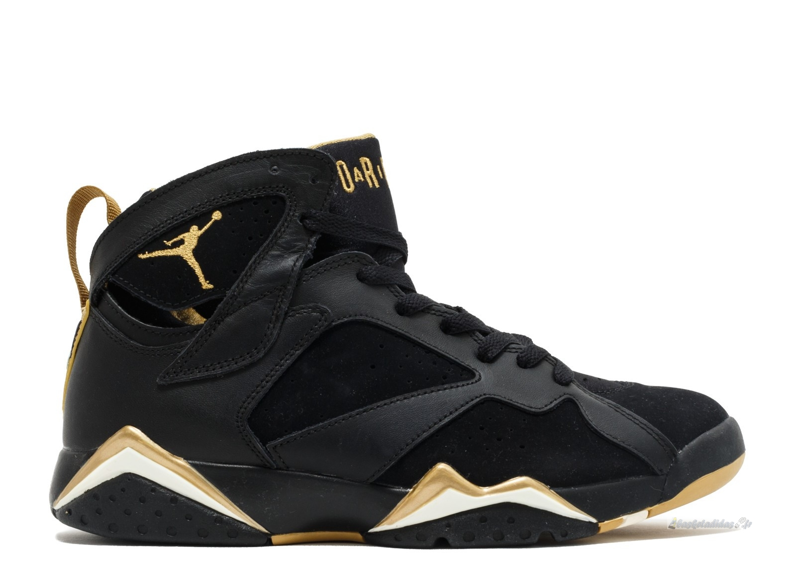 "Chaussure de Basket Air Jordan 7 Retro ""Golden Moments Package"" Noir Or (304775-030)"