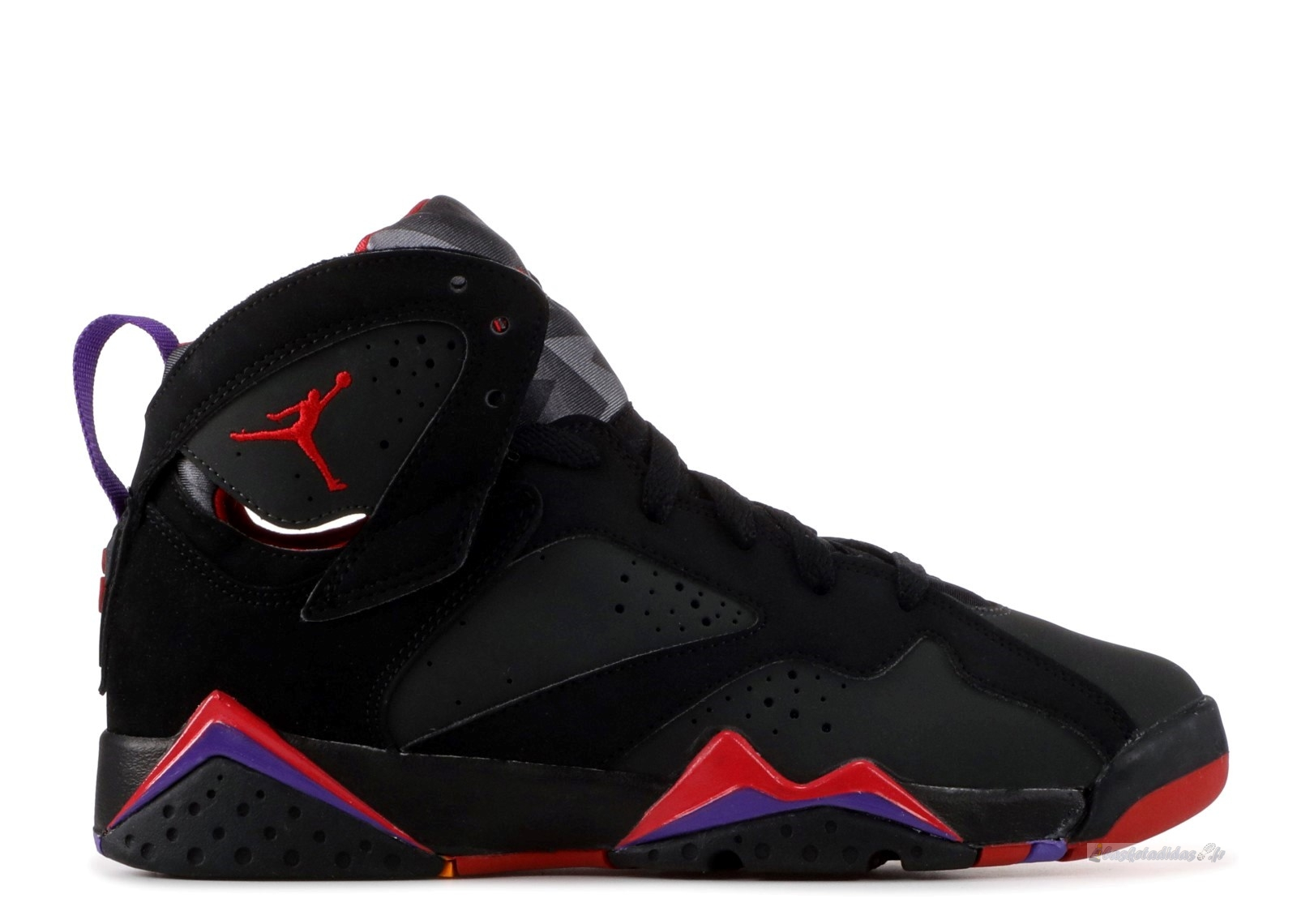 "Chaussure de Basket Air Jordan 7 Retro (Gs) ""Defining Moments"" Noir Rouge (304774-041)"