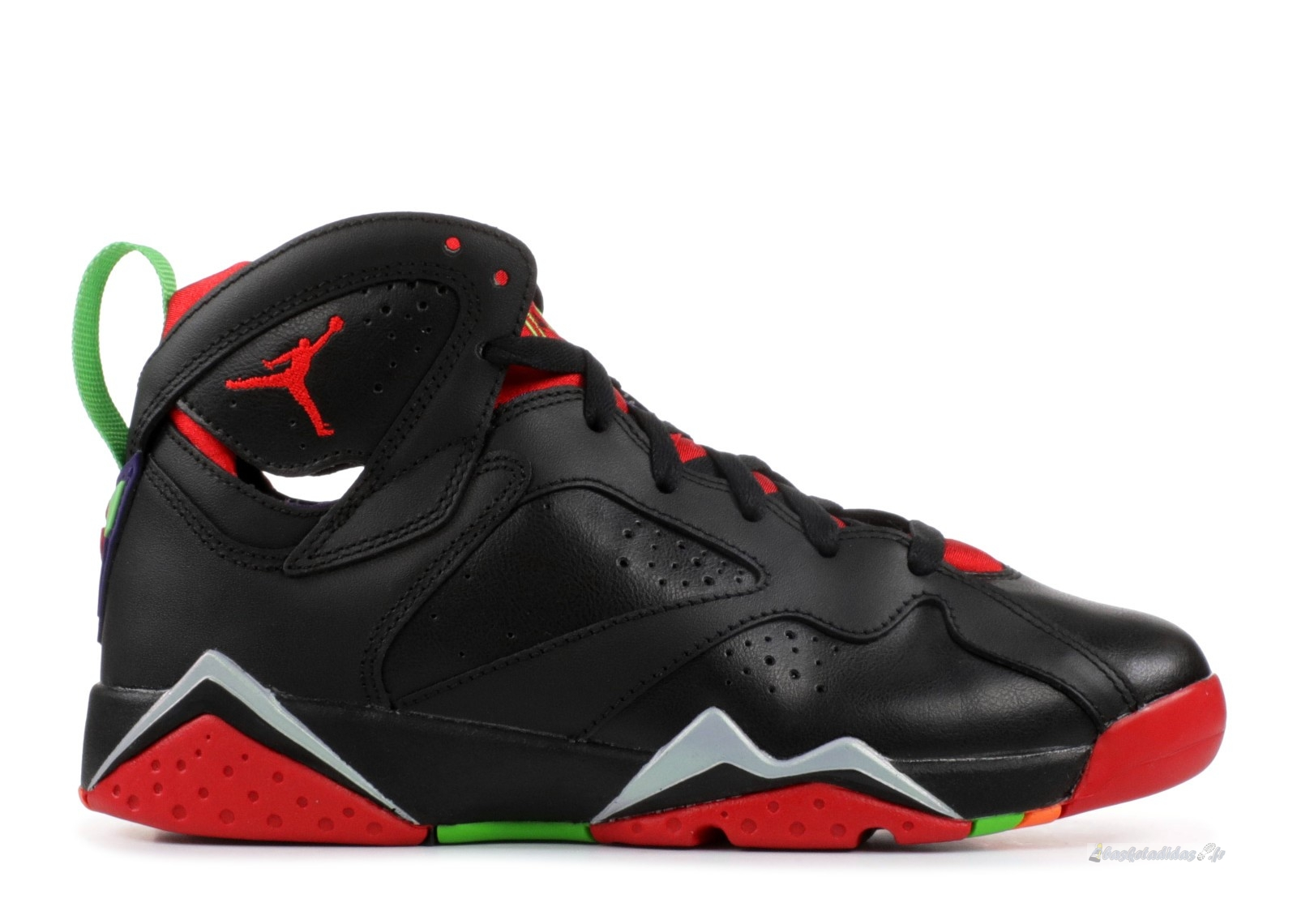 "Chaussure de Basket Air Jordan 7 Retro (Gs) ""Marvin The Martian"" Noir Rouge (304774-029)"