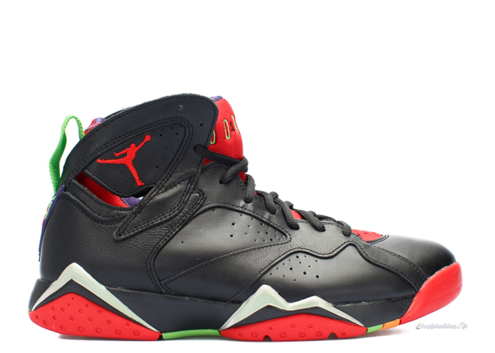 "Chaussure de Basket Air Jordan 7 Retro ""Marvin The Martian"" Noir Rouge (304775-029)"