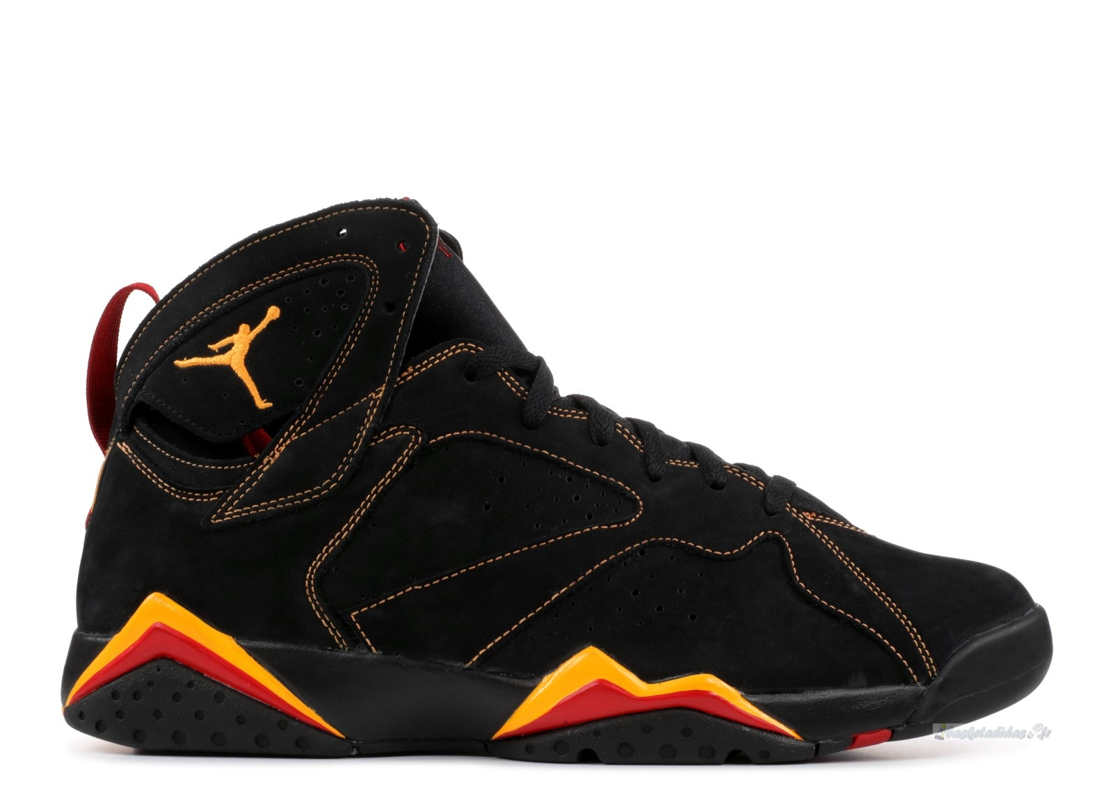 Chaussure de Basket Air Jordan 7 Retro Noir Orange Rouge (304775-081)
