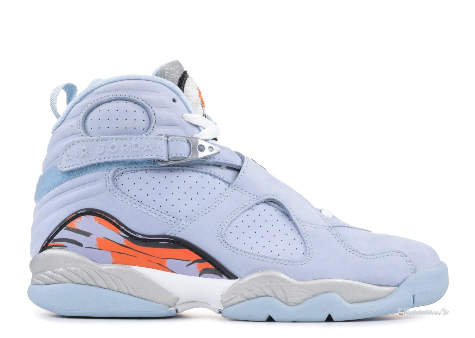 Chaussure de Basket Air Jordan 8 Femme Retro Bleu Orange (316836-401)