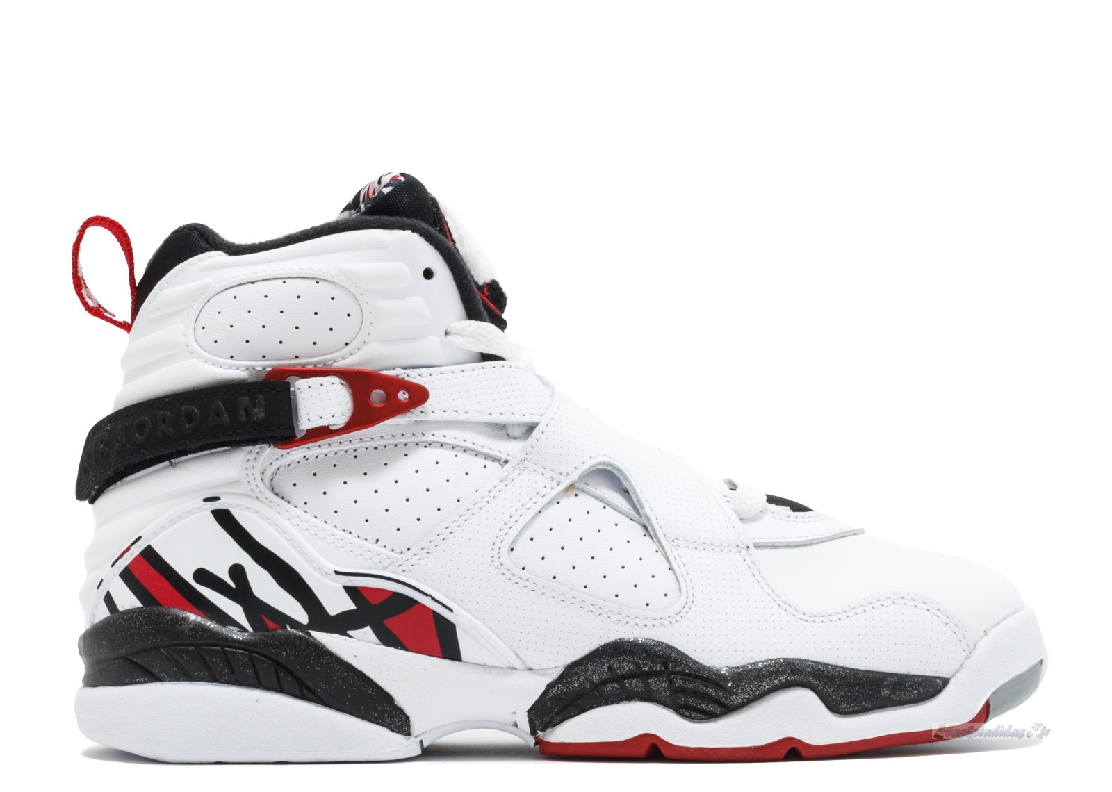 "Chaussure de Basket Air Jordan 8 Retro (Gs) ""Alternate"" Blanc Rouge Gris (305368-104)"