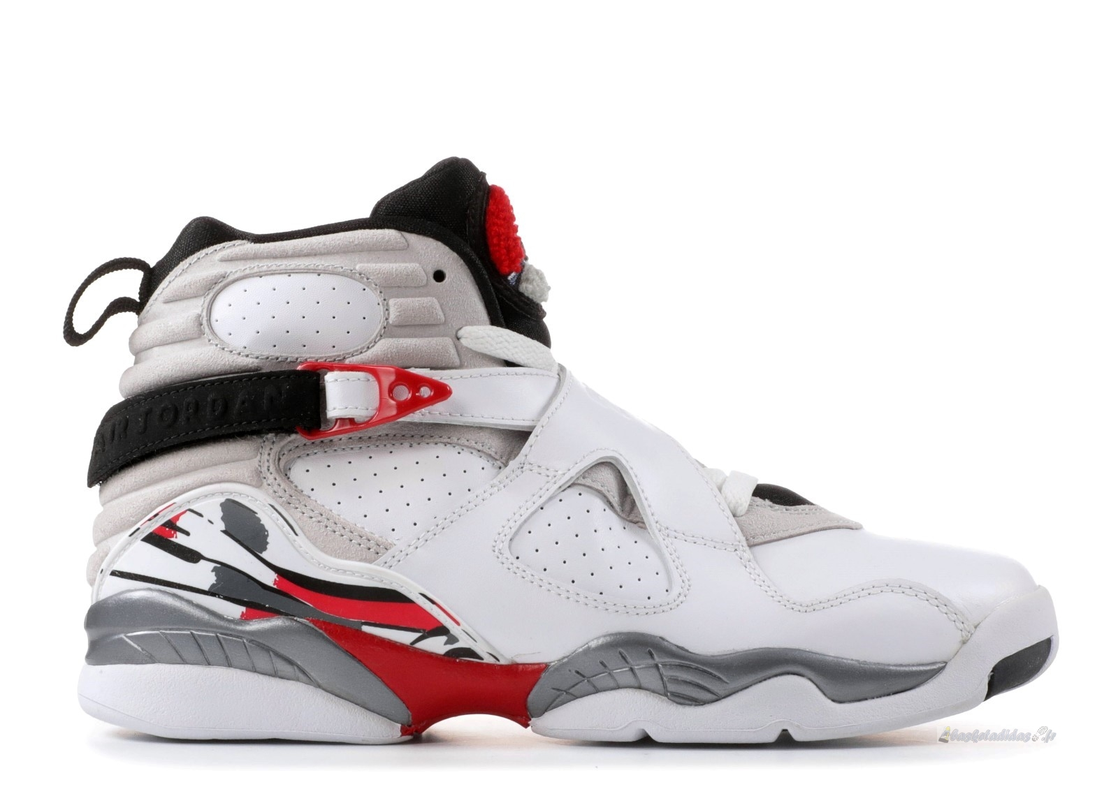 "Chaussure de Basket Air Jordan 8 Retro (Gs) ""Countdown Pack"" Blanc Rouge Gris (305368-103)"