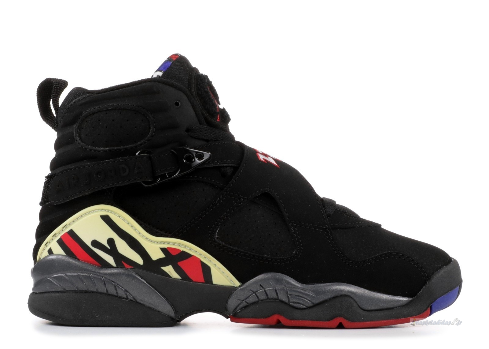 "Chaussure de Basket Air Jordan 8 Retro (Gs) ""Playoffs"" Noir Rouge (305368-061)"