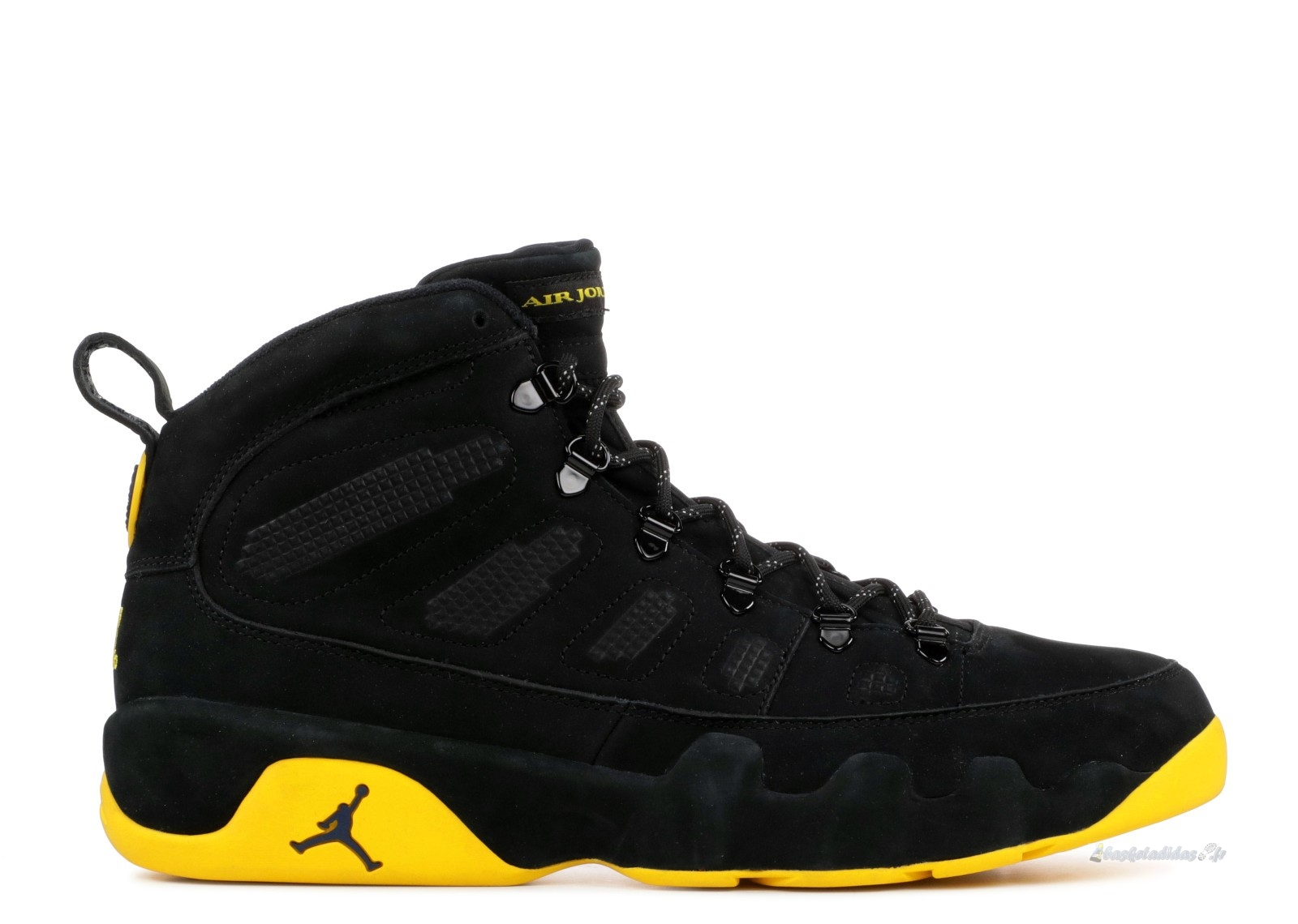 "Chaussure de Basket Air Jordan 9 Retro Boot ""Michigan Psny Pe"" Noir Jaune (mnjdls-266817838)"