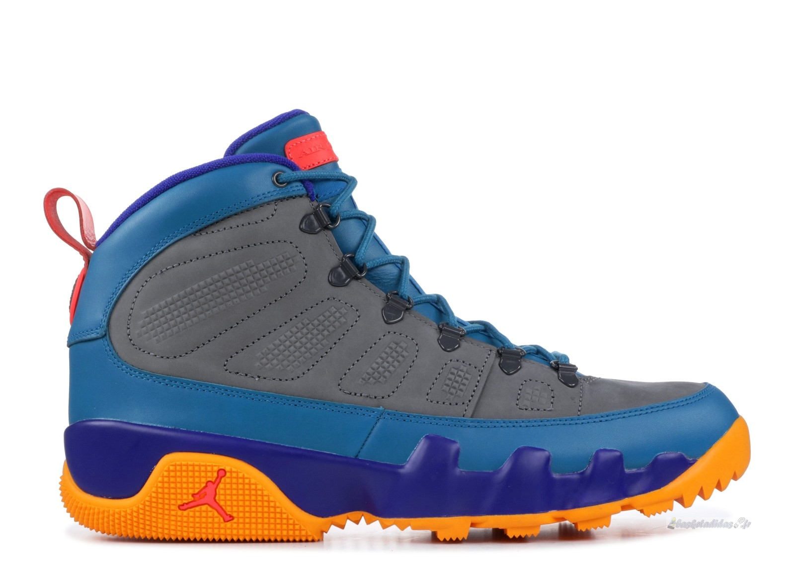 Chaussure de Basket Air Jordan 9 Retro Boot Nrg Bleu Orange (ar4491-300)